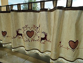 Úžitkový textil - Záclonka - Vyšívaná - - 3166037