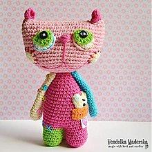 Návody a literatúra - Mačka Líza - návod na háčkovanie - 3167647