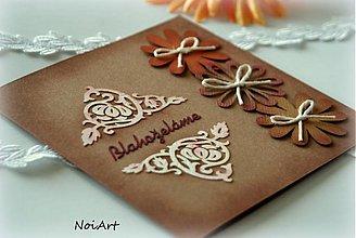 Papiernictvo - Pohľadnica blahoželanie, 3 margarétky - 3168621