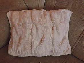 Úžitkový textil - Pletený vankúš - 3176192