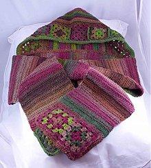 Šály - pletený šál s kapucňou - 3176345