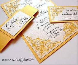 Papiernictvo - Svadobné oznámenie VICTORIAN GOLD I. - 3183223