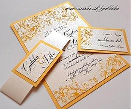 Papiernictvo - Svadobné oznámenie VICTORIAN GOLD II. - 3183243