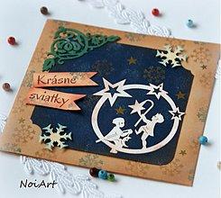 Papiernictvo - Vianočná pohľadnica Chlapci - 3185806