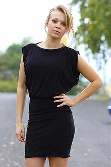 Šaty - Elegatné čierne šaty - 3186714