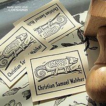 Drobnosti - Středověký chameleon v rámečku: pečiatka 4x3 cm - 3189411