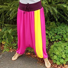 Nohavice - Turecké nohavice žltý pruh - 3189510