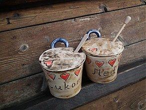 Nádoby - Súprava cukor + med Srdiečka - 3195872