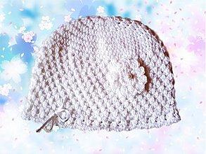 Detské čiapky - Biela čiapočka - 3199518