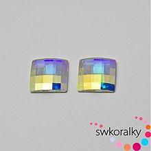 Korálky - CHESSBOARD 10 SWAROVSKI ® ELEMENTS 2493-crystal AB - 3204111