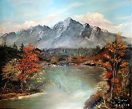 Obrazy - Jeseň pod horami - 3204313