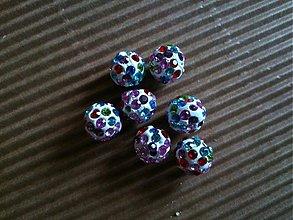 Korálky - Pestrofarebné disco gulôčky - 3206714