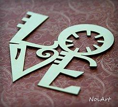 Papier - Výrez z lepenky LOVE - 3212710
