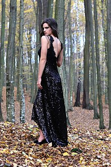 Šaty - Long Black - 3213859