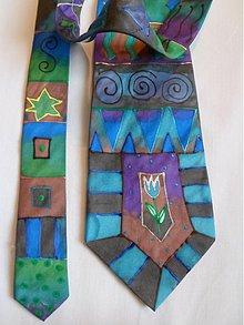 Doplnky - Kravata ornament modrá - 3214976