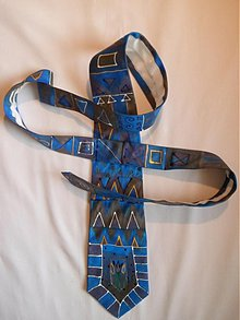 Doplnky - Tmavá ornament kravata - 3215030