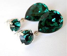 Náušnice - smaragdy - na objednavku - 321625
