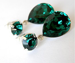 Náušnice - smaragdy - ihned k odberu - 321625