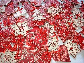 Dekorácie - Vianočné drevené ozdoby veľké - 3216989