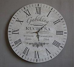 Hodiny - Personalizovateľné maxi hodiny - 3217513
