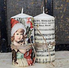 Svietidlá a sviečky - Vianočné duo sviečok - 3217725