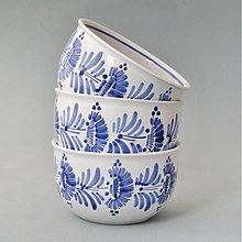Nádoby - Miska na müsli, polévku kopretiny 12 modře malované - 3218562