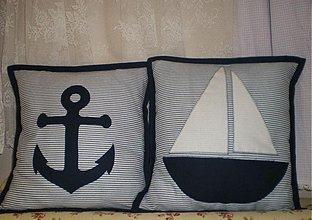 Úžitkový textil - Návliečky na vankúšiky námornícke - objednávka pre pani Silviu - 3222461