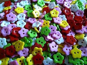 Galantéria - Gombíčky kvetinky 12mm - 3226634