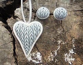 Sady šperkov - Láska sa dá aj uštrikovať - 3228046