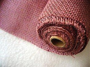 Textil - vrecovina/ juta staroružová - 3229179