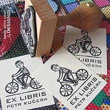 Drobnosti - Cyklista: pečiatka 3x4 cm - 3230136