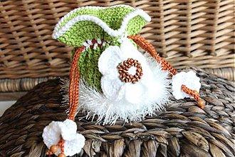 Peňaženky - EURO-mešec biely kvet - 3230535