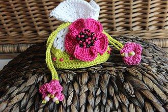 Peňaženky - EURO-mešec cyklámenový kvet - 3230558