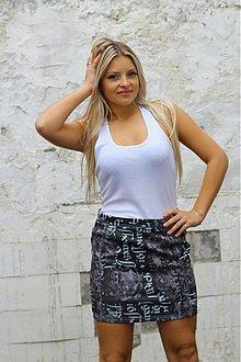 Sukne - Moderná riflová minisukňa - 3230793