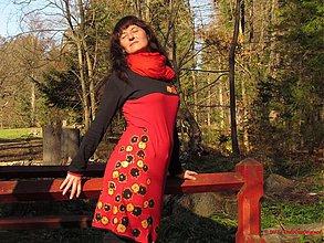 Šaty - Doplatok materiál šaty Moši Moši a 3D - 3232137