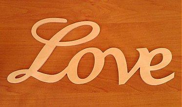 Polotovary - Drevený nápis - LOVE - 3234064