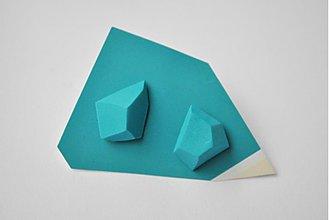 Náušnice - Geometrické náušnice   minimal arch   turquoise - 3234566