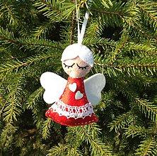Dekorácie - Vianočný anjelik (Red) - 3234582