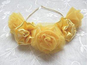 Ozdoby do vlasov - ***Čelenka se zlatými květy*** - 3235135