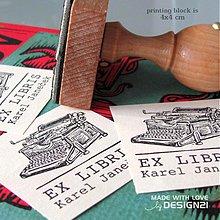 Drobnosti - Písací stroj: pečiatka 4x4 cm - 3235177