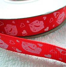 Galantéria - Stuha rypsová 17mm KISS - 3235727