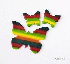 Náušnice - Jesenné motýle - náušky - 3236075