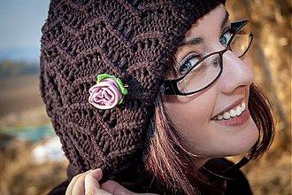 Odznaky/Brošne - Brošňa - Pink Rose - 3236285