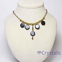 Náhrdelníky - Náhrdelník-skleněné ploché perle na mosaz.řetízku - 3240434
