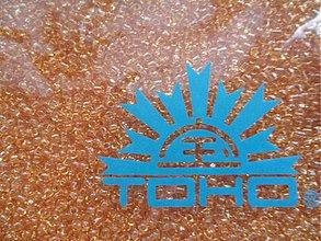 Korálky - TOHO round transparent 2,2mm-10g (5-Topaz) - 3240579