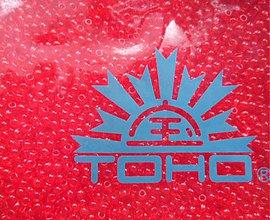 Korálky - 7-TOHO Round 11/0-Transp.Siam Ruby-10g - 3240613