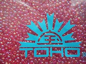 Korálky - 10-TOHO Round 11/0-Transp-Rainbow ruby-10g - 3240657