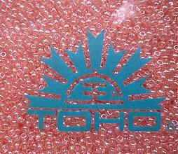 Korálky - 11-TOHO Round 11/0-Transp-Lustered Rose-10g - 3240658