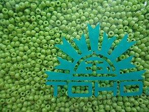 Korálky - 20-TOHO Round 11/0-Opaque Sour Apple-10g - 3240689