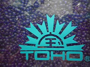 Korálky - 33-TOHO Round 11/0-transp-Frosted Cobalt-10g - 3240735